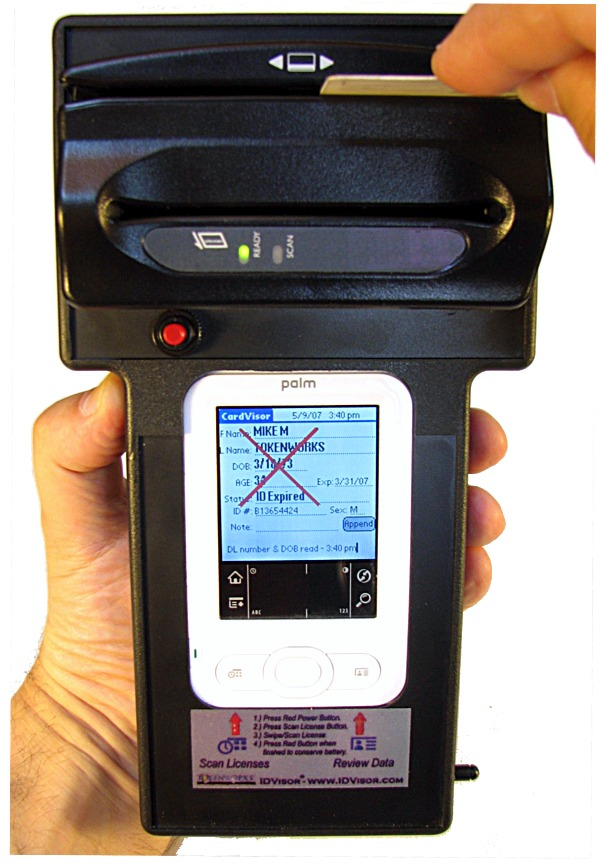 Drivers Id Reader Age License Scanner Verification